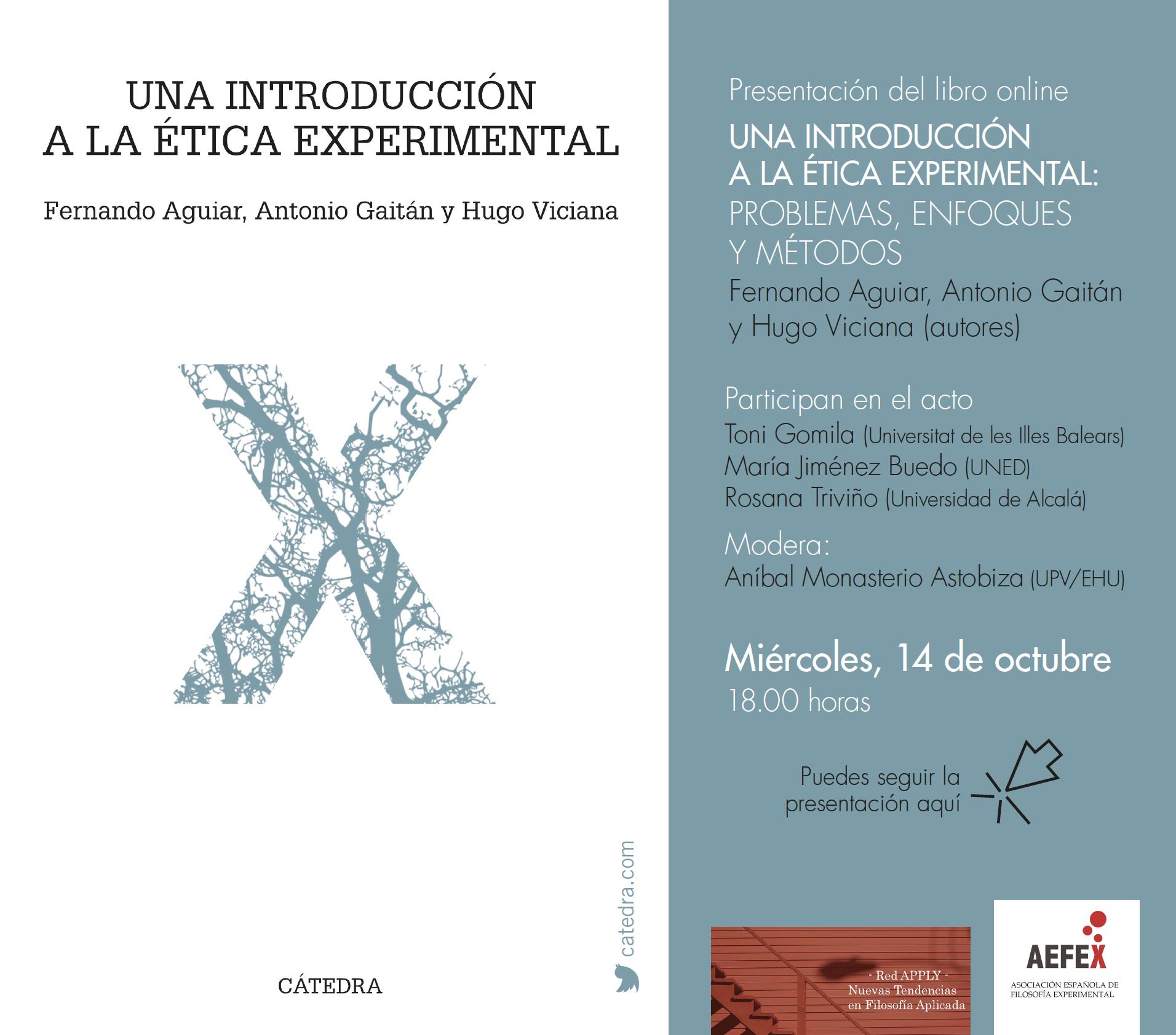 Presentación del libro <em>Una Introducción a la Ética Experimental</em>